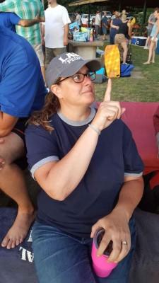 Erica with a baseball cap